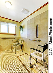 Bathroom in adult family home for handicap