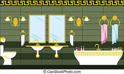 Bathroom in the Greek style