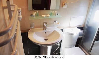 Bathroom in the hotel