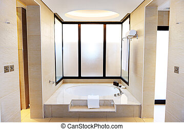 Bathroom in the luxury hotel, Dubai, UAE