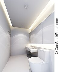 bathroom  interior ,3d render