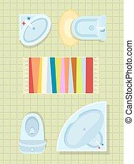 Bathroom Interior Decor on Vector Illustration