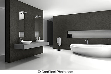 Bathroom Interior Design - Bathroom with modern and...