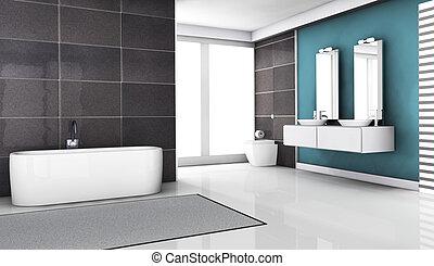 Bathroom Interior Design - Interior design of a modern and...