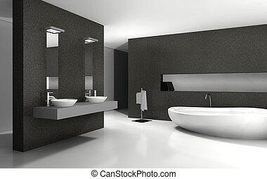 Bathroom Interior Design - Bathroom with modern and...
