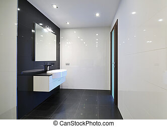 Bathroom interior - Modern luxury bathroom interior. No...