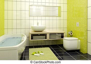 bathroom interior - 3d rendering of the modern bathroom...