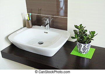 bathroom interior with sink
