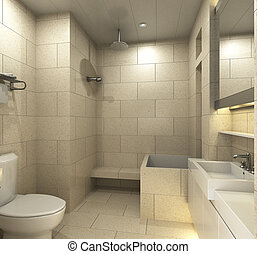 Bathroom - Modern bathroom for residences or hotels