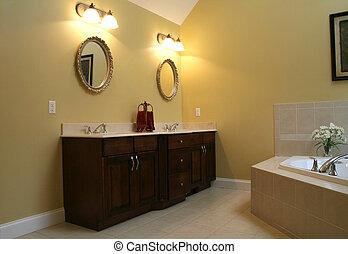 Modern bathroom in upscale home