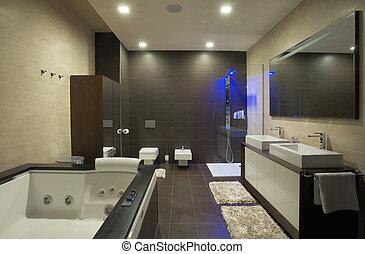 Bathroom - Modern house bathroom interior with simple and ...