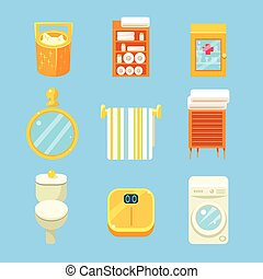 Bathroom Objects Set