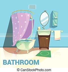 Bathroom Retro Design