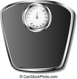 Analog bathroom scale eps10