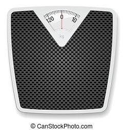 Bathroom Scale - Bathroom Weight Scale. Illustration on...