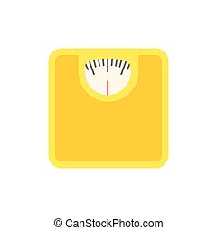 Bathroom scale icon - Bathroom scale, modern flat icon with ...