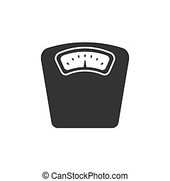 Bathroom scale icon on a white background