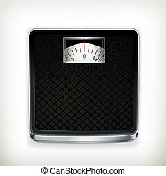 Bathroom scale, vector