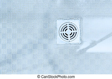 bathroom sewer drain hole gas smell on the floor