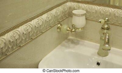 Bathroom sink and mixer shot
