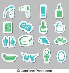 bathroom stickers