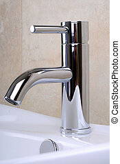 Bathroom Tap - Modern Style Chrome Single Lever Bathroom...