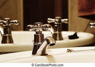 Bathroom Tap - Tap and basin in bathroom