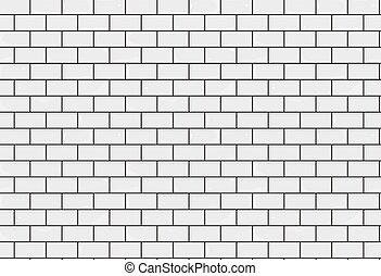Bathroom tiles texture seamless background. White tile illustration. Brick layout. Vector bathroom white tiles