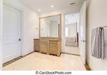 Bathroom toilet in luxury house