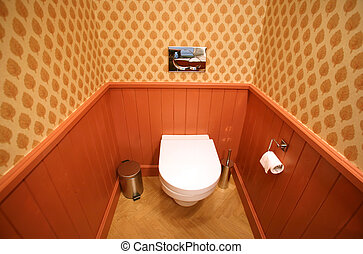 Toilet interior in very luxurious house residence