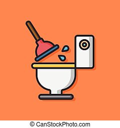 bathroom toilet vector icon