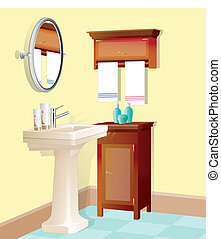vector illustration of bathroom