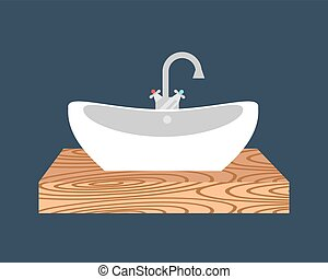 Bathroom washbasin icon colored with process water savings...