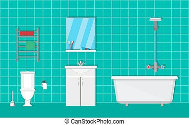 Bathroom with furniture