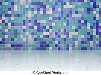 Bathroom with tiled wall and floor