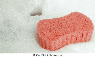 Bathtub - Bath Sponge and Bubble Bath