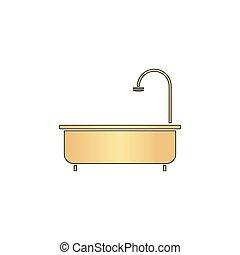 Bathtub computer symbol