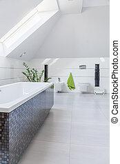 Bathtub in luxury bathroom - Close-up of bathtub in luxury...