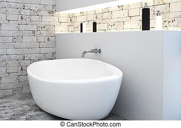 Bathtub in modern interior