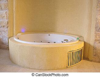 Bathtub jacuzzi in a modern batroom