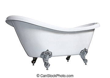 Bathtub - Old style bath tub with metal legs