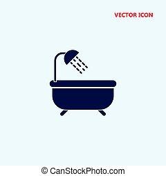 bathtub vector icon