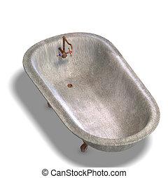 bathtube, dreckige