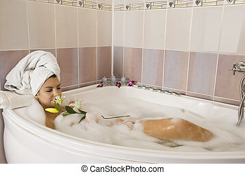 bathtube, relaxante
