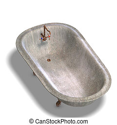 bathtube, sporco