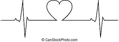 batida, coração, amor