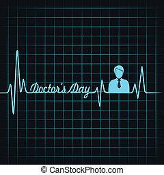 batida coração, fazer, doutores, dia, texto