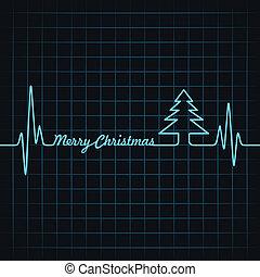batida coração, fazer, feliz natal, texto