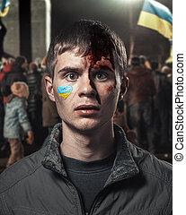 batido, reunião, estudante, ukrainian