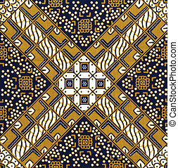 Batik background - Detail of a batik design from Indonesia